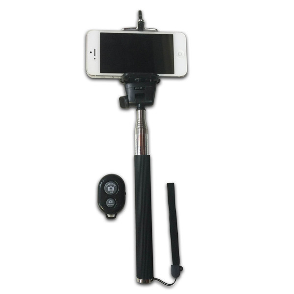 phone selfie stick with bluetooth wireless remote black comfyplane. Black Bedroom Furniture Sets. Home Design Ideas