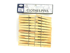 36 pack wooden clothes pins is now on sale