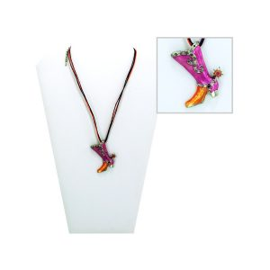 Comfy Plane's necklace with boot