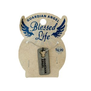 Comfy Plane's Blessed Life Dog Tag Necklace