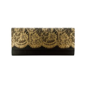 Comfy Plane's Ladies Clutch Bag with Lace Print