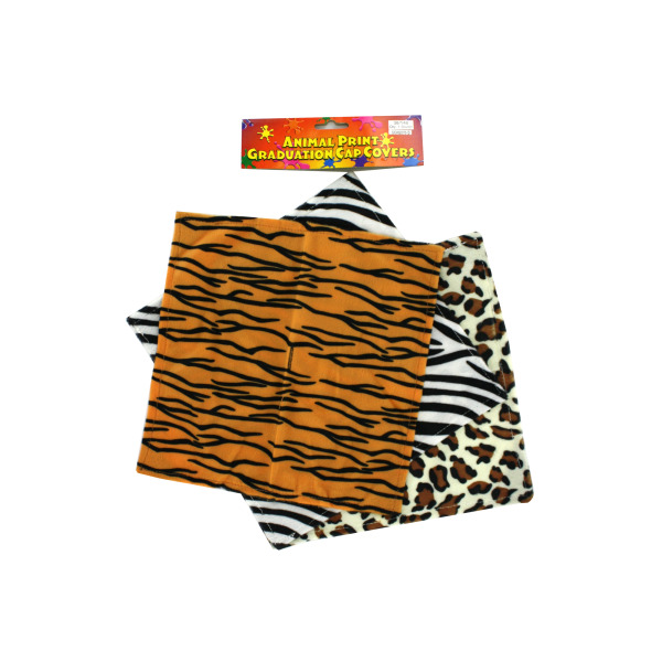 Animal Print Graduation Cap Covers | bulk buys