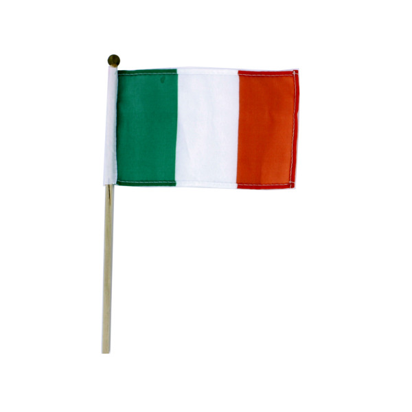 Irish Flag on Wooden Pole | bulk buys