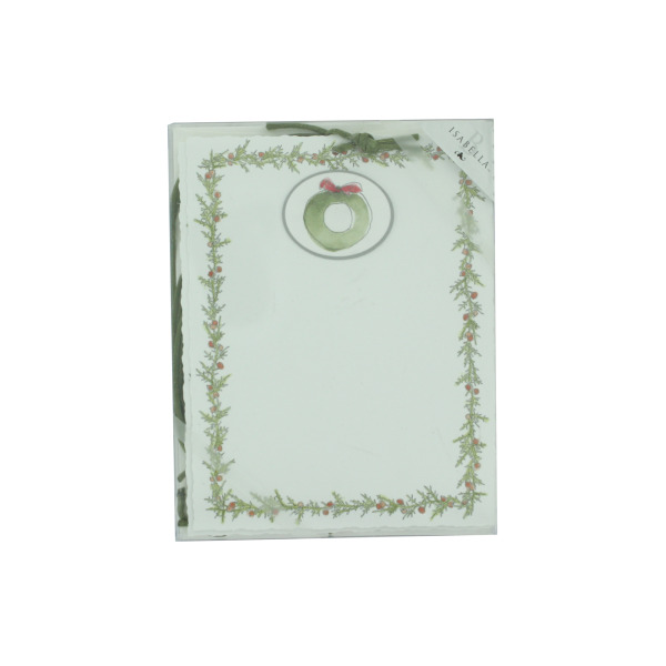 Emb Panel Holiday Cards With Tie-Wreath | bulk buys