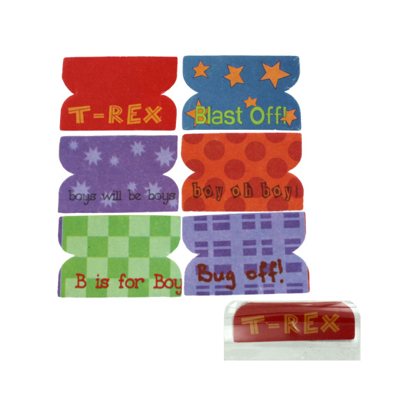 72 Little Boy Plastic Index Tabs | bulk buys