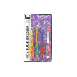 Animal kids toothbrushes, pack of 4