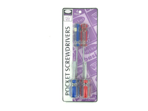 Pocket screwdrivers, package of 4