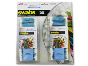 Twin pack cotton swabs