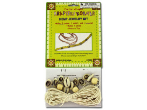 Do-it-yourself hemp jewelry kit