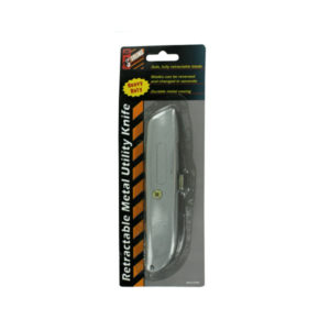 Retractable metal utility knife | sterling