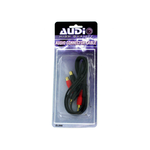 Audio connector cable with four plugs   audio