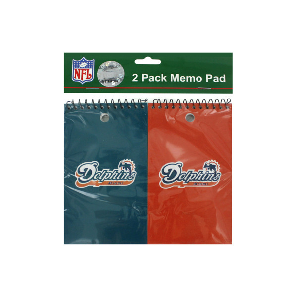 Miami Dolphins NFL note pads, pack of 2 | bulk buys