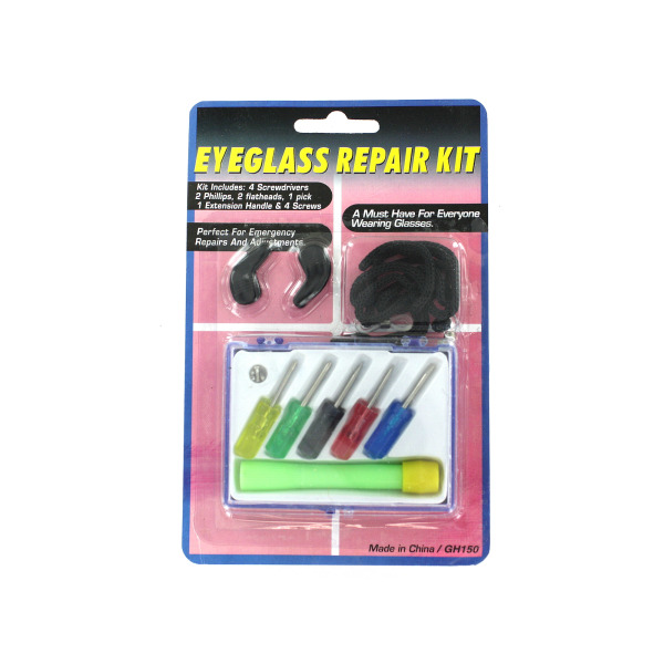 Eyeglass repair kit with case | bulk buys