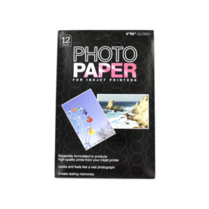 4 x 6 photo paper- 12 sheets in a pack | bulk buys