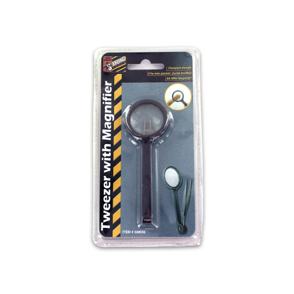 Tweezers with Magnifier | sterling