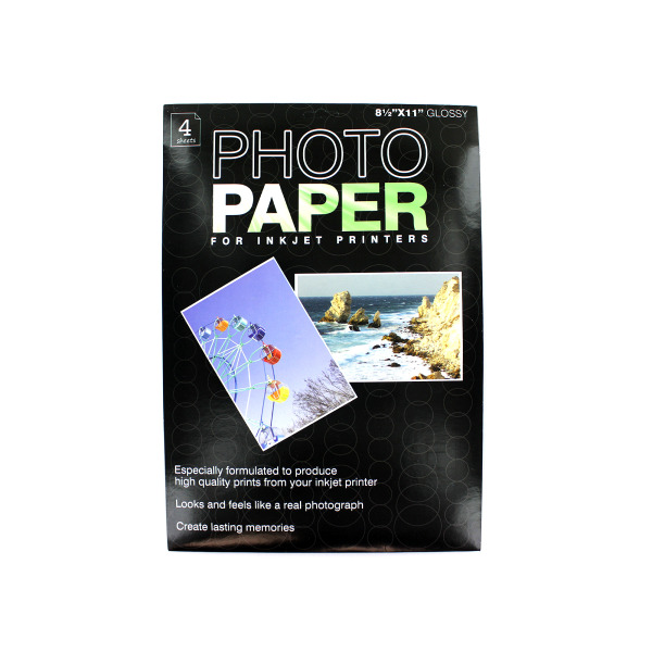 Photo paper for inkjet printers, 4 pack | bulk buys