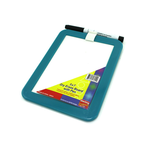 Small dry erase board with marker   sterling
