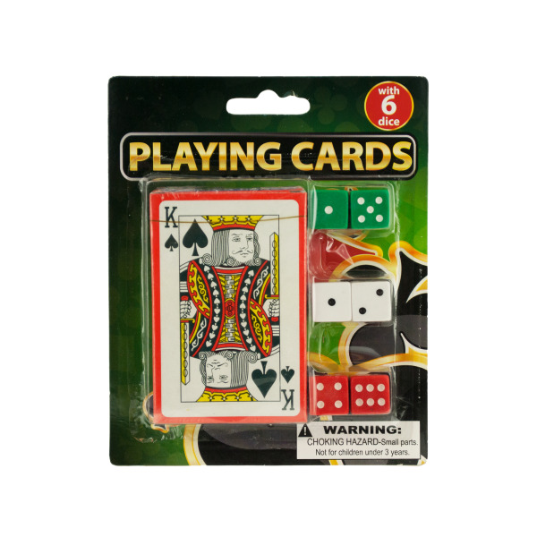 Vegas style playing card with dice | bulk buys