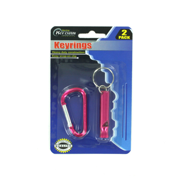 Whistle key chain and snap-clip | sterling