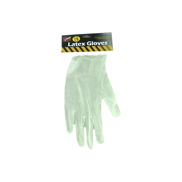 6 Piece latex gloves | sterling