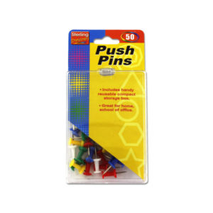 Colored push pin set | sterling
