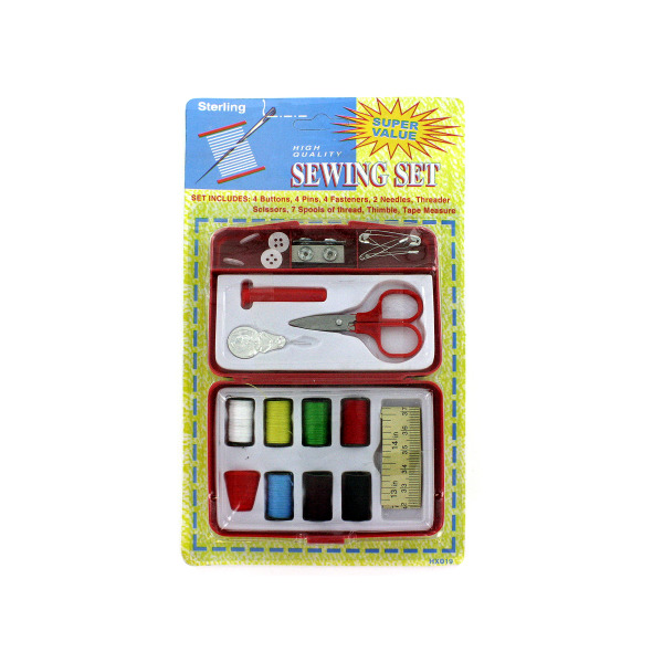 Compact sewing kit | sterling
