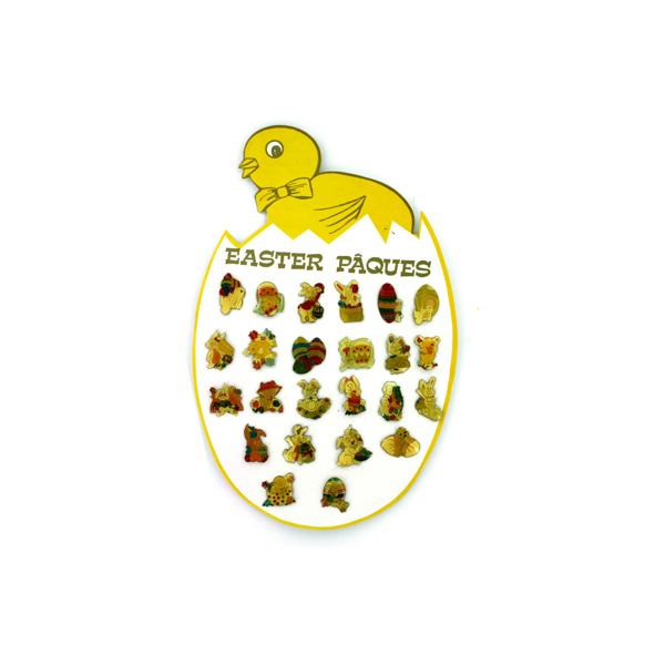 Easter pins, 24 assorted on display card | bulk buys