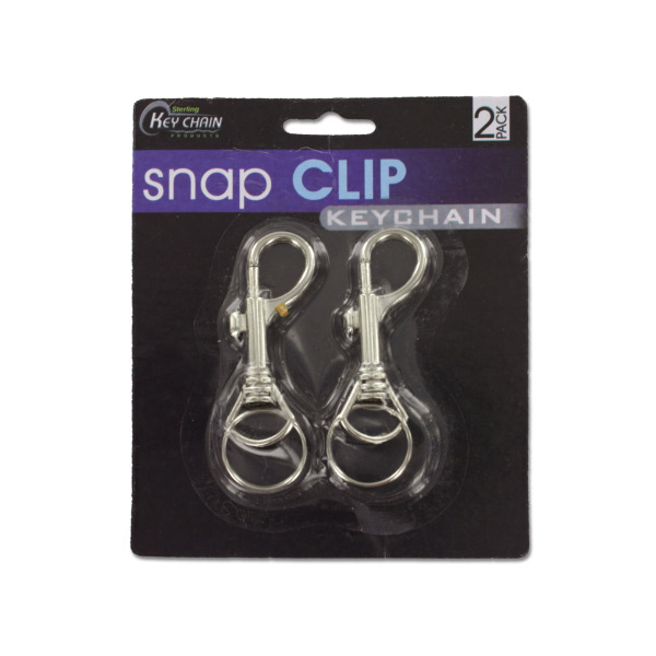 Snap clip key chains | sterling