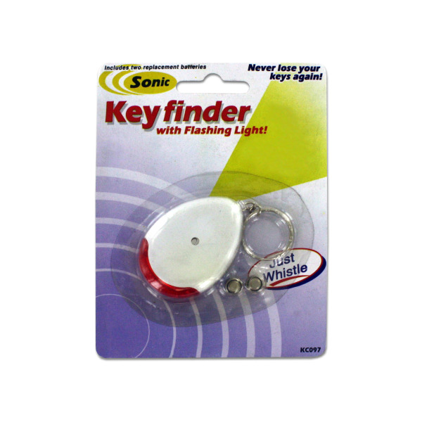 Sonic sound key chain finder with flashing light | bulk buys