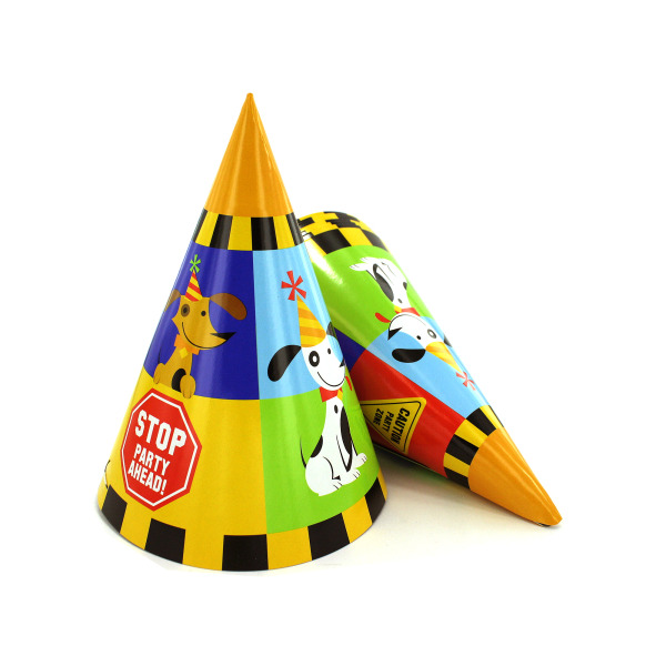 Rescue Pals party hats, pack of 8 | bulk buys