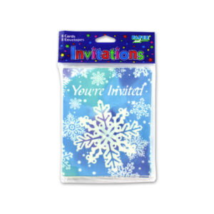 Snowflake invitations, pack of 8 | bulk buys