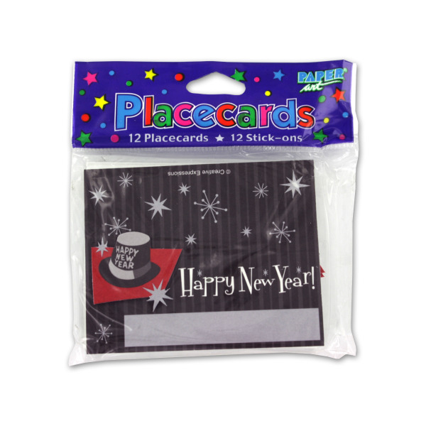 New Years placecards, pack of 12 | bulk buys