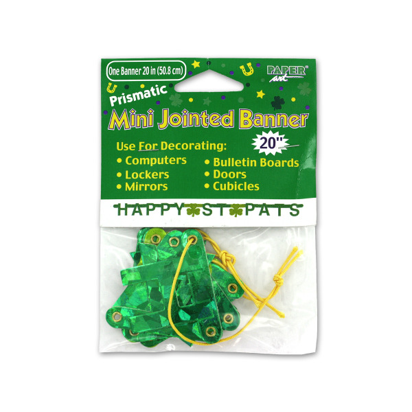 20-Inch Happy St. Pats Banner   bulk buys