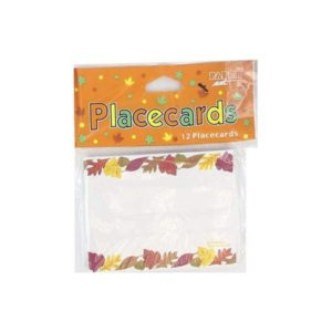 Place cards with fall leaves border | bulk buys