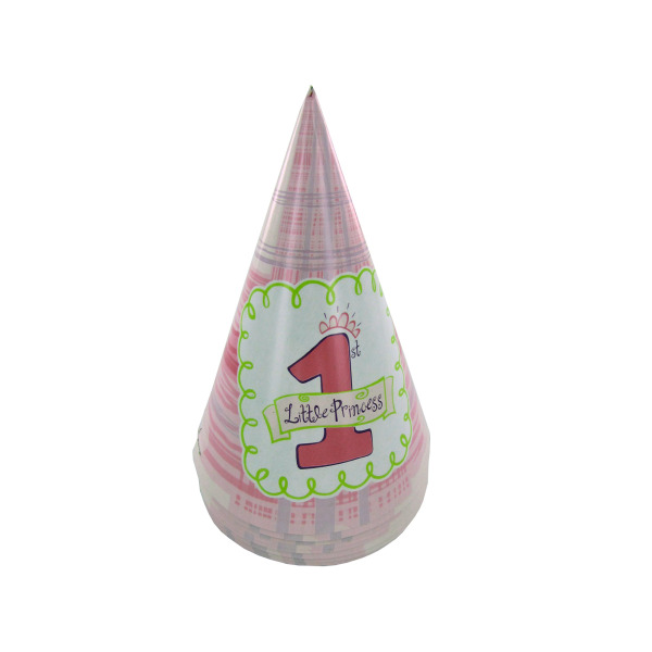 Little Princess 1st birthday party hats, pack of 8 | bulk buys