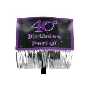 40th Birthday Party yard sign with fringe | bulk buys