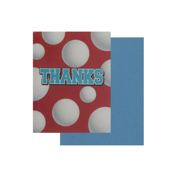 Volleyball thank you cards, set of 8 | bulk buys