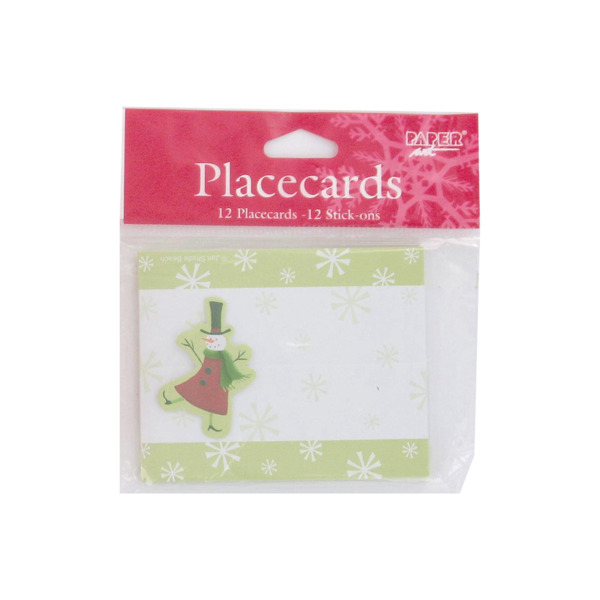 Christmas snowman place cards, pack of 12 | bulk buys