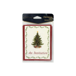 Classic Christmas invitations, pack of 8 | bulk buys