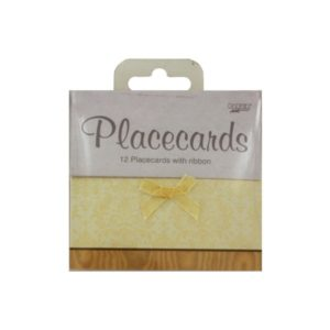 Elegant place cards with ribbon, pack of 12   bulk buys
