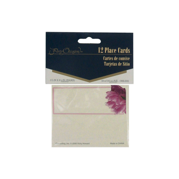 Peony Bloom place cards, pack of 12 | bulk buys