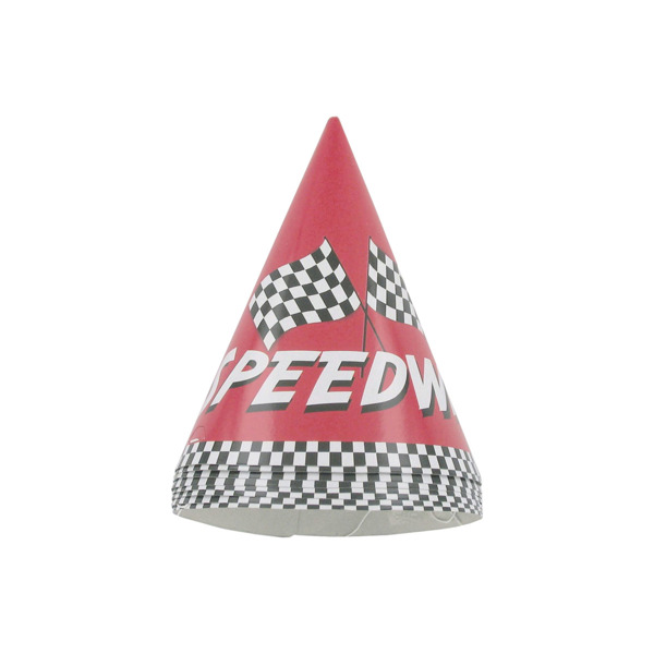Speedway party hats, pack of 8 | bulk buys