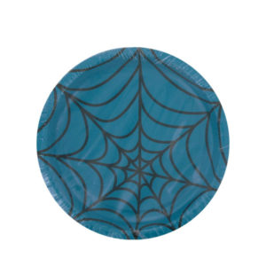 Turquoise spiderweb plates, pack of 8 | bulk buys