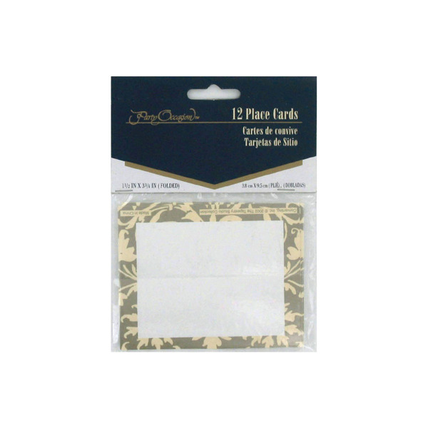 Tapestry Champagne place cards, pack of 12 | bulk buys