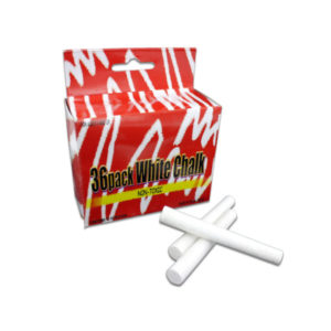 36 Pack white chalk | bulk buys