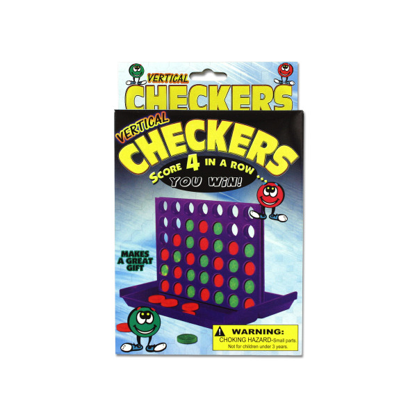 Vertical Checkers Travel Game | bulk buys