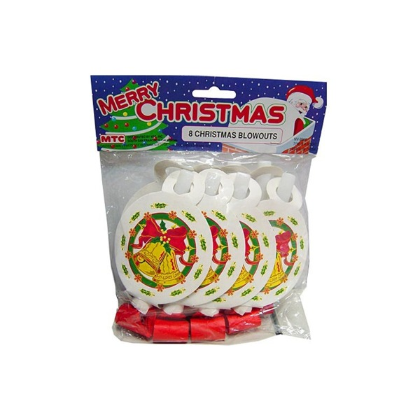 Christmas party blowouts, pack of 8 | bulk buys