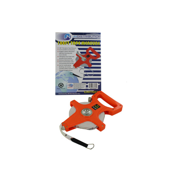 Hundred tape measure with carry handle   bulk buys
