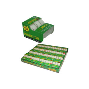 3-pack invisible tape with dispensers | bulk buys