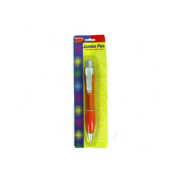 Jumbo pen with pocket clip | sterling
